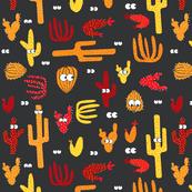 halloween cactus on grey