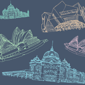 Sydney, Perth, Melbourne