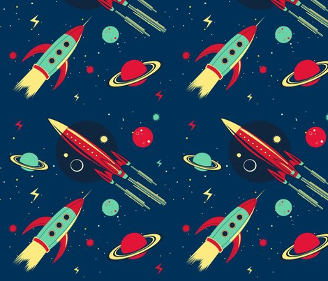 Planet earth is blue fabric misslife spoonflower for Planet print fabric