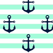 ANCHORS ON MINT RUGBY LARGE