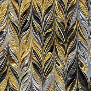 Metallic-SilverGoldBlack-Feather