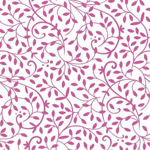Curly Vine Pink White