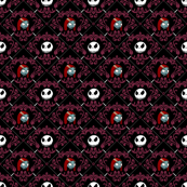 Jack and Sally Nightmare Before Christmas Damask Purple
