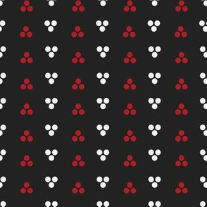 Dapper Dot - White, Red and Black