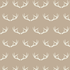 Antlers-Natural Beige & Cream