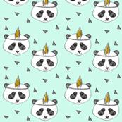 panda mint SMALL PRINT - elvelyckan