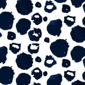 blue velvet crazy dots - elvelyckan