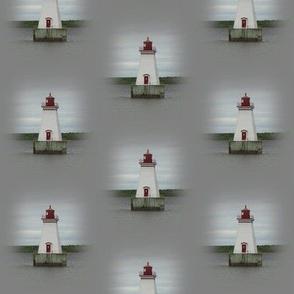Lighthouse on Gray