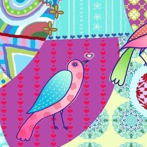 bohemian bird crazy quilt ♥