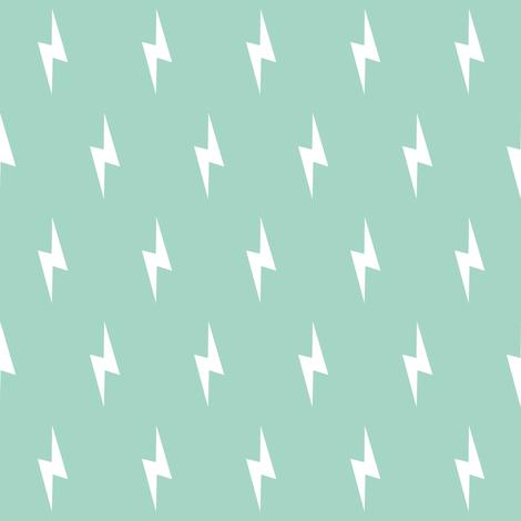 white lightning bolt on mint