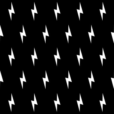 white lightning bolt on black
