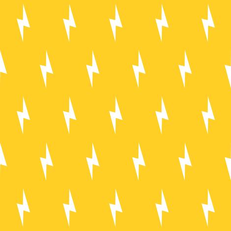 white lightning bolt on yellow