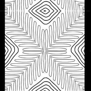Tribal X and Diamonds with border
