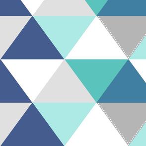 Geo Quilt Blues