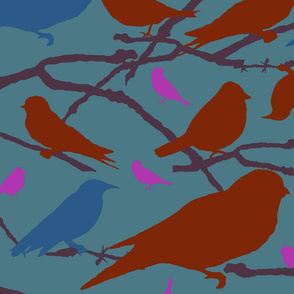 Multi-colored Birds, 1
