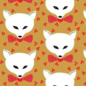 arctic fox bow tie