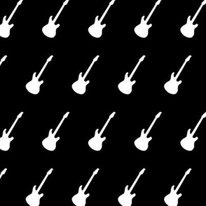 Electric Guitars Black And White