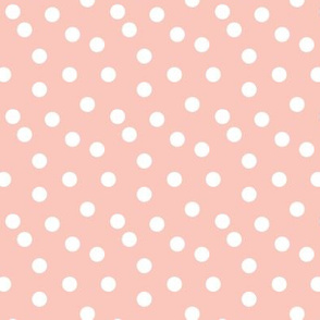 Polka Dot - Pale Pink (Smaller Version) by Andrea Lauren
