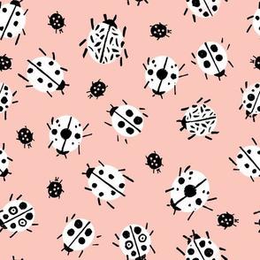 ZigZag - Pale Pink Background by Andrea Lauren