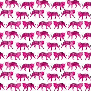 Watercolor Tiger - Pink (Mini Version) by Andrea Lauren