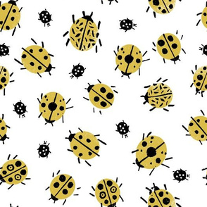 Ladybugs - Mustard/White by Andrea Lauren
