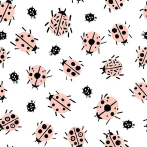 Ladybugs - Pale Pink/White by Andrea Lauren