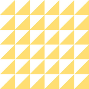 Yellow and White Half-Square Triangles