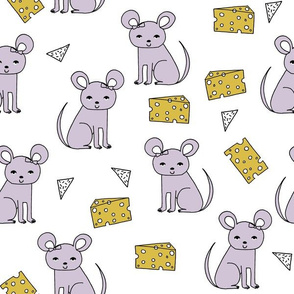 Mouse & Cheese - Lavender by Andrea Lauren