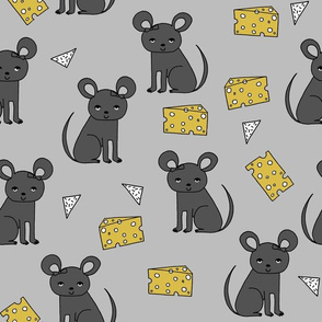 Mouse & Cheese - Slate/Charcoal by Andrea Lauren