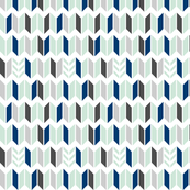 Mint Navy Gray Chevron Slices