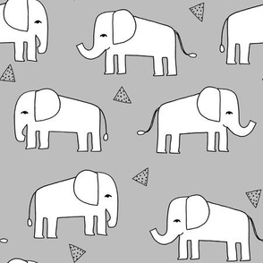 Elephant - Slate/White by Andrea Lauren