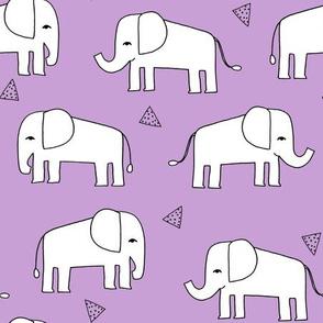 Elephant - Wisteria/White by Andrea Lauren