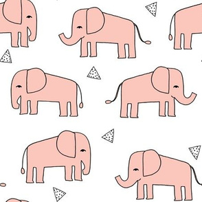 Elephant - Pale Pink by Andrea Lauren