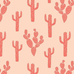 cactus // block print cactus cacti blush kids girls hipster sweet summer exotic southwest desert