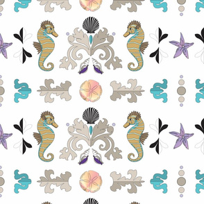 Seaside Damask