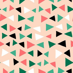 Tropical Triangles - Pink and Green by Andrea Lauren
