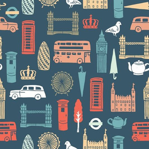 London Block Print - Multi by Andrea Lauren