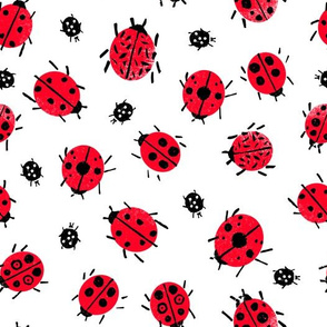 Ladybugs - Red/White by Andrea Lauren