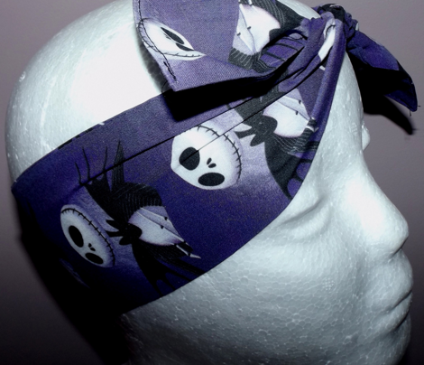 skellington skull multi for headscarf