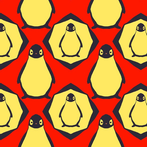 red penguin, red penguin