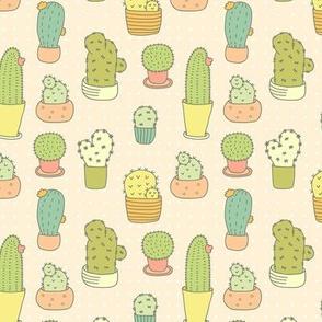 Cute Doodle Cactuses