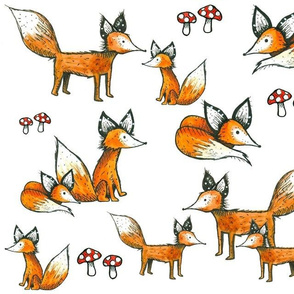 Foxes + Mushrooms
