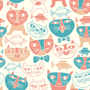 Funny Cats Pattern