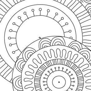 Mandala Coloring Paper