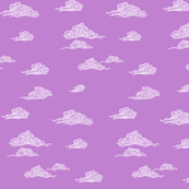 Oriental Clouds in Petal Purple