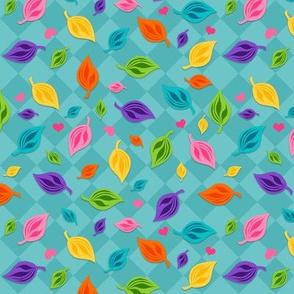 Happy Leaves 2 Teal