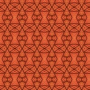 Southwest Diamonds Orange Black
