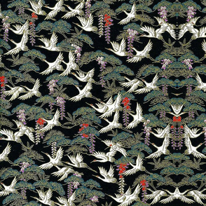 Cranes_and_Pines