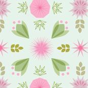 Pink Geo Flowers
