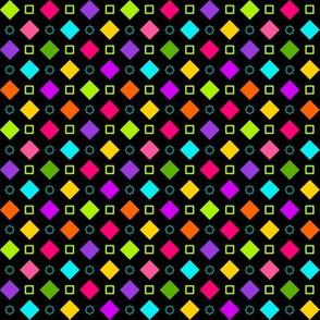 Checkerboard Fancy Happy Black